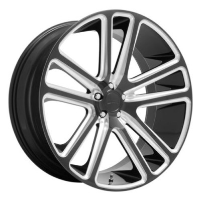DUB FLEX Gloss Black Diamond Cut wheel (24.00X10.00, 5x115.00, 71.6, 20 offset)