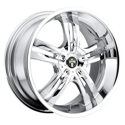 DUB Phase S104 Chrome wheel (18X8, 5x108/114.3, 72.6, 40 offset)