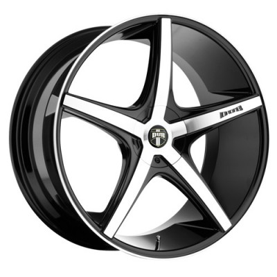 DUB Rio 5 S113 Machine Black wheel (18X8, 4x100/114.3, 72.6, 40 offset)