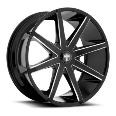 DUB S109 Gloss Black Machine wheel (20X8.5, 6x135, 87.1, 25 offset)