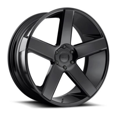 DUB S217 Gloss Black Diamond Cut wheel (22X9.5, 6x139.7, 106.1, 19 offset)