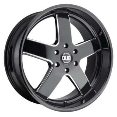 DUB S223 BIG BALLER Gloss Black wheel (22X9.5, 5x139.70, 78.1, 25 offset)