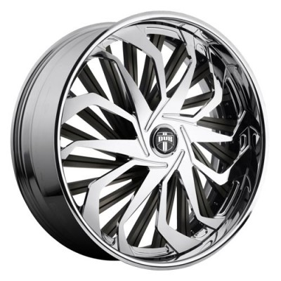 DUB Sleeper S719 Chrome wheel (26X10, 5x139.7, 78.1, 25 offset)