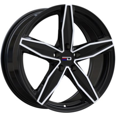 Euro Design Berlin Gloss Black Machine wheel (16X7.0, 5x100, 72.6, 40 offset)