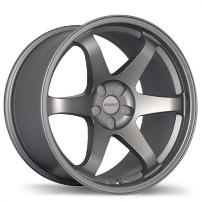 Fastwheels Hayaku Satin Grey wheel (17X9, 5x114.3, 73, 25 offset)