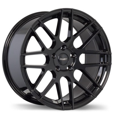 Fastwheels Rennen Gloss Black/Noir lustré , 18X8.0, 5x108, (offset/déport 45 ) 73