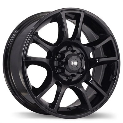 Fastwheels Hollowpoint Gloss Black/Noir lustré , 16X7.0, 6x114.3, (offset/déport 20 ) 66.1