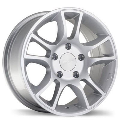 Fastwheels Hollowpoint Hyper Silver wheel (16X7, 5x127, 71.5, 33 offset)