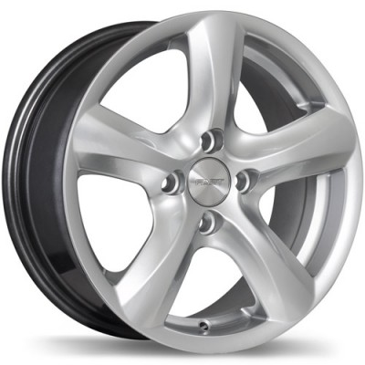 Fastwheels Hi-Five Hyper Silver wheel (14X6, 4x100, 73, 38 offset)