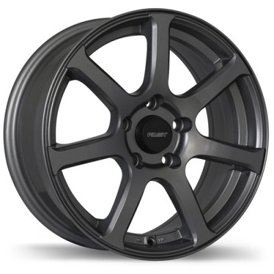 Fastwheels Seven Gun Metal wheel (17X7, 5x114.3, 66.1, 45 offset)