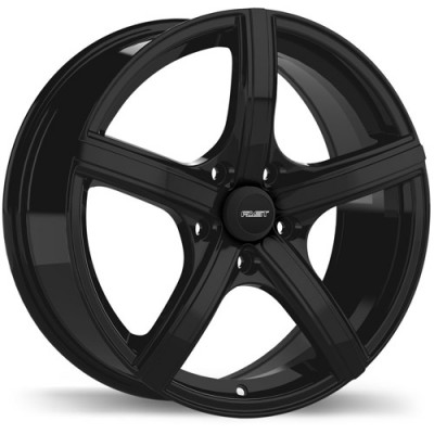 Fastwheels Jet Gloss Black/Noir lustré , 16X7.0, 5x114.3, (offset/déport 45 ) 67.1