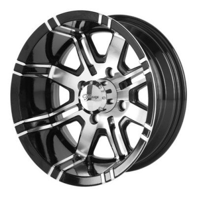 Fairway Alloys FA119 AGGRESSOR Machine Black wheel (12X7, 4x101.6, 70.70, -40 offset)