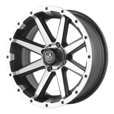Fairway Alloys FA136 REBEL Machine Black wheel (14X6.5, 4x101.6, 70.70, -23 offset)