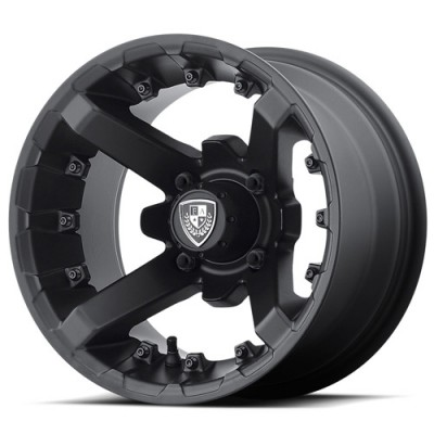 Fairway Alloys FA138 BATTLE Matt Black Machine wheel (12X7, 4x101.6, 70.70, -47 offset)