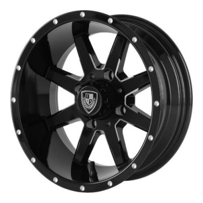 Fairway Alloys FA142 SHIFT Machine Black wheel (12X6, 4x101.6, 70.70, -30 offset)