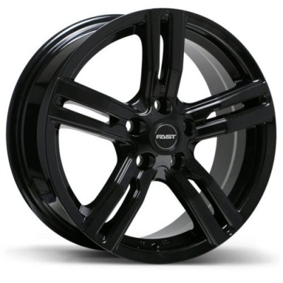 Fast Wheels Bullseye Gloss Black wheel (16X6.5, 5x114.3, 66.1, 35 offset)