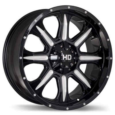 Fast Wheels C4 Gloss Black Machine wheel | 17X8, 6x135/139.7, 106.1, 20 offset