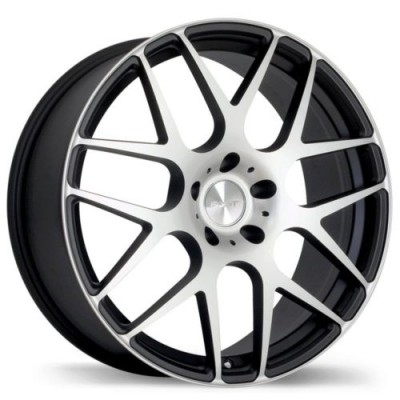 Fast Wheels Essen Matt Black Machine wheel (19X8.0, 5x114.3, 73, 45 offset)