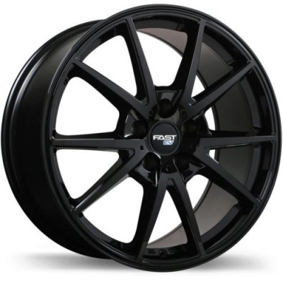 Fast Wheels EV02 Gloss Black wheel (17X6.5, 5x114.3, 67.1, 38 offset)