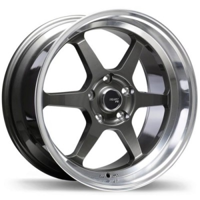 Fast Wheels FC06 Machine Gunmetal wheel | 18X8.5, 5x114.3, 72.6, 35 offset