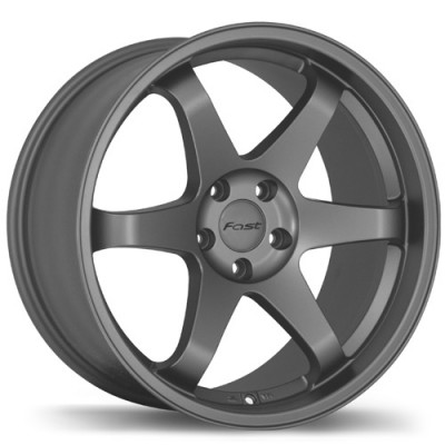 Fast Wheels Hayaku Satin Grey wheel (19X10.5, 5x108, 73, 35 offset)