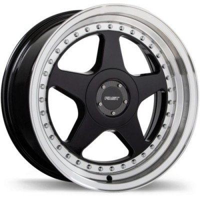 Fast Wheels Kimura Gloss Black Diamond Cut wheel (17X7.5, 4x114.3, 72.6, 25 offset)