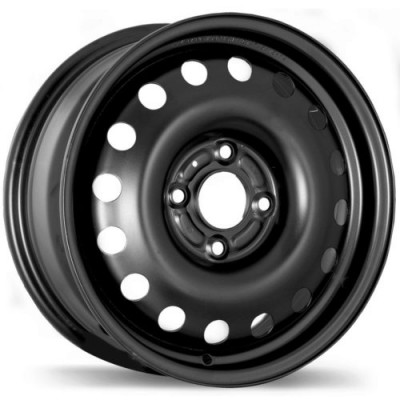 Fast Wheels Premium Euro Steel Wheel Matte Black wheel (15X6.0, 4x108, 63.4, 47 offset)