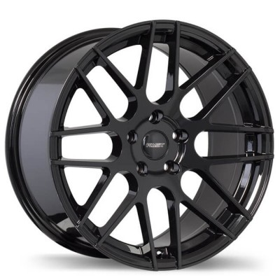 Fast Wheels Rennen Gloss Black wheel (17X7.5, 5x108, 73, 45 offset)
