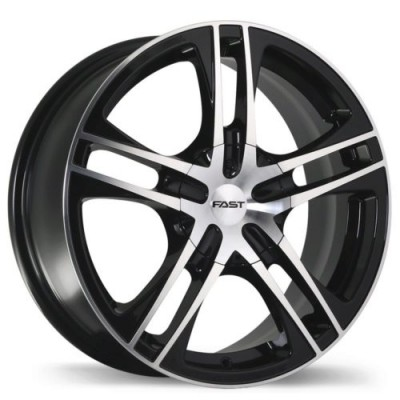 Fast Wheels Reverb Gloss Black Machine wheel | 17X7.0, 5x108/114.3, 73, 42 offset