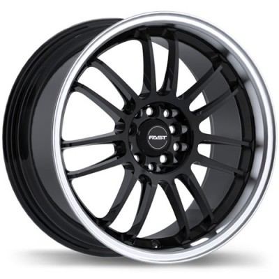 Fast Wheels Shibuya Gloss Black Machine wheel (15X6.5, 4x100/114.3, 72.6, 40 offset)