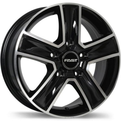 Fast Wheels Transport Gloss Black Machine wheel (16X6.5, 5x130, 78.1, 60 offset)