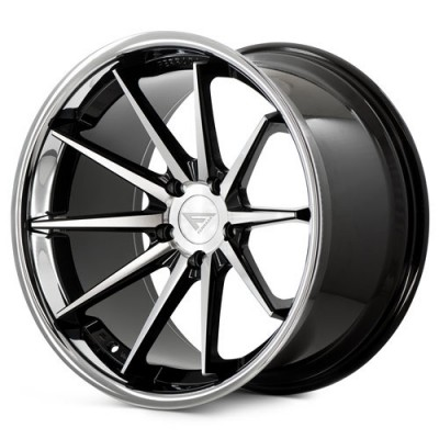 Ferrada Wheels FR4 Machine Black wheel (20X10.5, 5x112, 66.56, 25 offset)