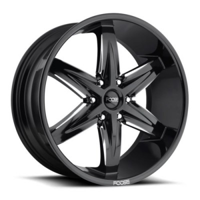 FOOSE Slider F162 Gloss Black Machine wheel (22X9.5, 6x139.7, 78.1, 30 offset)