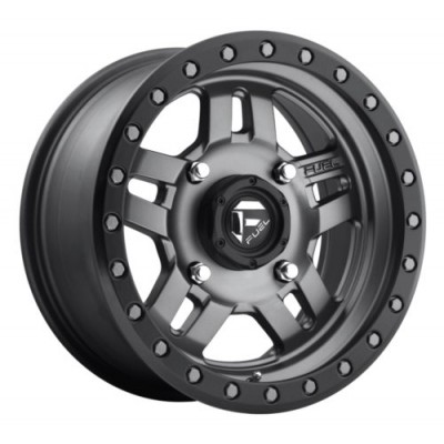 FUEL ANZA 5+2 D558 Gun Metal wheel (15X7, 4x156, 132, 38 offset)
