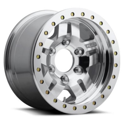 FUEL Anza BL - Off Road Only D116 Machine Silver wheel (17X9, 5x135, 87.1, -12 offset)