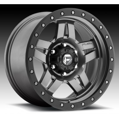 FUEL Anza D558 Matte Gun Metal wheel (15X8, 6x139.7, 108, -18 offset)