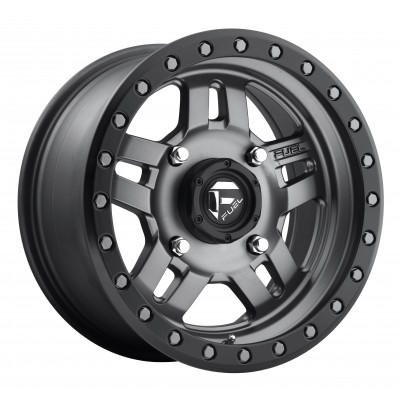 FUEL Anza UTV D558 Matte Gun Metal wheel (14X7, 4x156, 115.1, 13 offset)