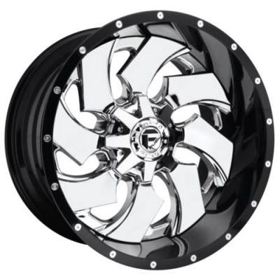 FUEL CLEAVER Chrome Plated wheel (22.00X14.00, 8x165.10, 125.1, -70 offset)
