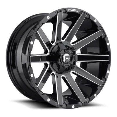 FUEL Contra D615 Gloss Black Machine wheel (20X10, 6x135/139.7, 106.3, -18 offset)