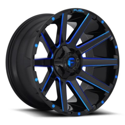 FUEL Contra D644 Black Blue wheel (20X10, 5x139.7/150, 110.3, -18 offset)