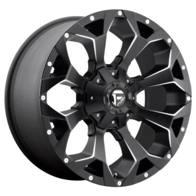 FUEL D546 ASSAULT Matte Black Machine Lip wheel (20X9, 5x120.00, 65.07, 35 offset)