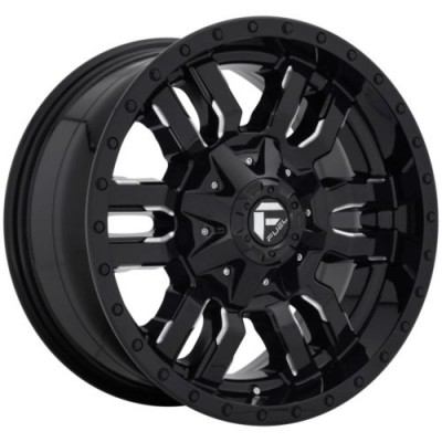 FUEL D595 SLEDGE Gloss Black wheel (18X9, 8x170.00, 125.1, 20 offset)