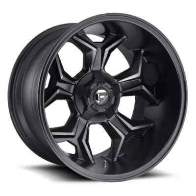 FUEL D605 Matte Black Machine Lip wheel (20X10, 5x127, 87.1, -18 offset)