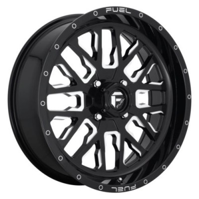 FUEL D611 STROKE Gloss Black wheel (24X7, 4x137.00, 132, 13 offset)