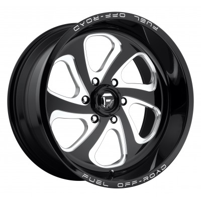 FUEL Flow 6 D587 Machine Black wheel (18X9, 6x139.7, 108, -12 offset)