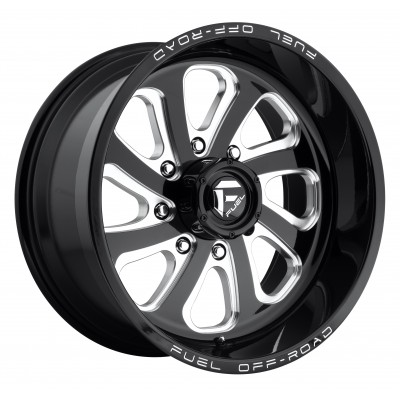 FUEL Flow 8 D587 Machine Black wheel (18X9, 8x170, 125.1, -12 offset)