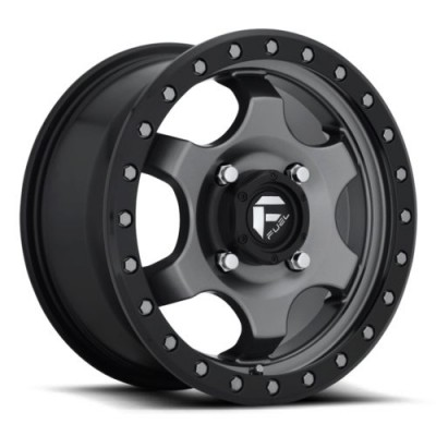 FUEL Gatling D640 Matte Gun Metal wheel (15X7, 4x136, 110.2, 55 offset)
