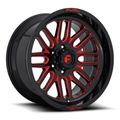FUEL Ignite D663 Black Red wheel (20X10, 8x170, 125.1, -18 offset)