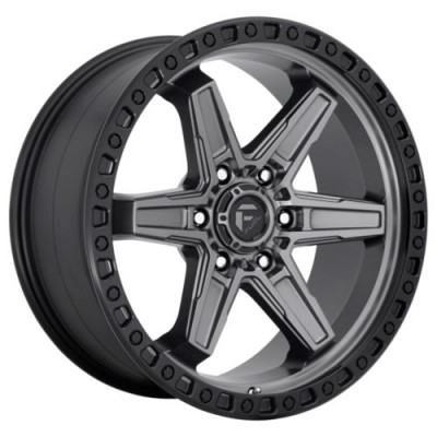 FUEL KICKER Matte Gun Metal wheel (18.00X9.00, 6x139.70, 106.1, 1 offset)