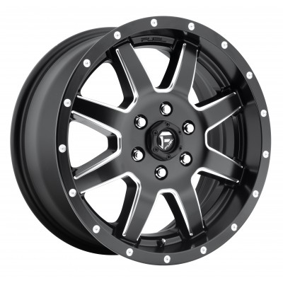 FUEL Maverick Dualie Front D538 Machine Black wheel (22X8.25, 8x165.1, 117.1, 104.8 offset)